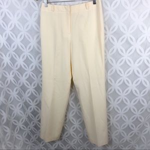 Talbots Stretch Ivory Made in Italy Wool Pants